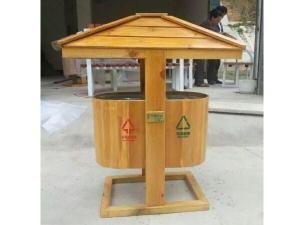 实木垃圾箱
