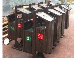 实木垃圾箱厂家