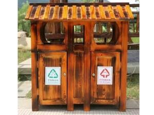 实木垃圾箱价格
